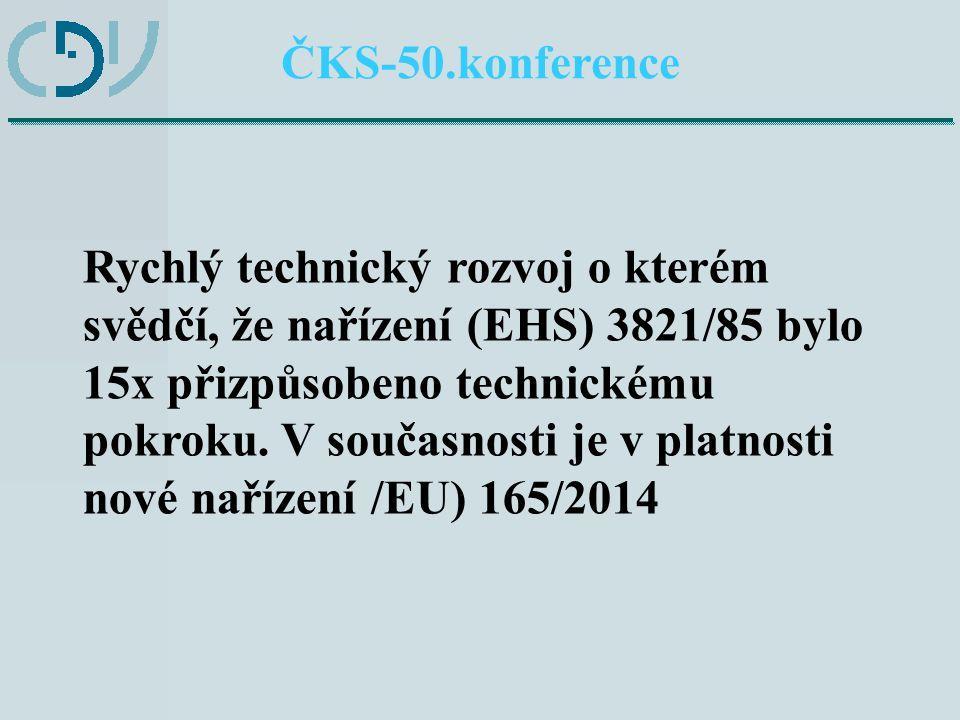 Příklad technického pokroku: ZÁZNAM O ČINNOSTI ŘIDIČE ČKS-50.konference