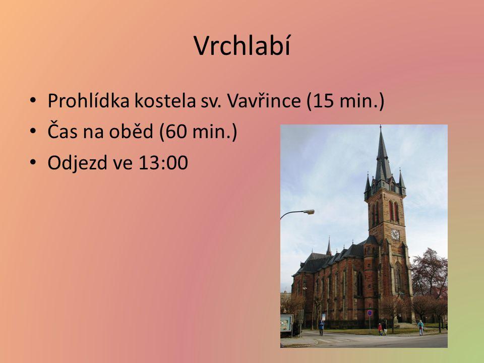 Vrchlabí Prohlídka kostela sv. Vavřince (15 min.) Čas na oběd (60 min.) Odjezd ve 13:00