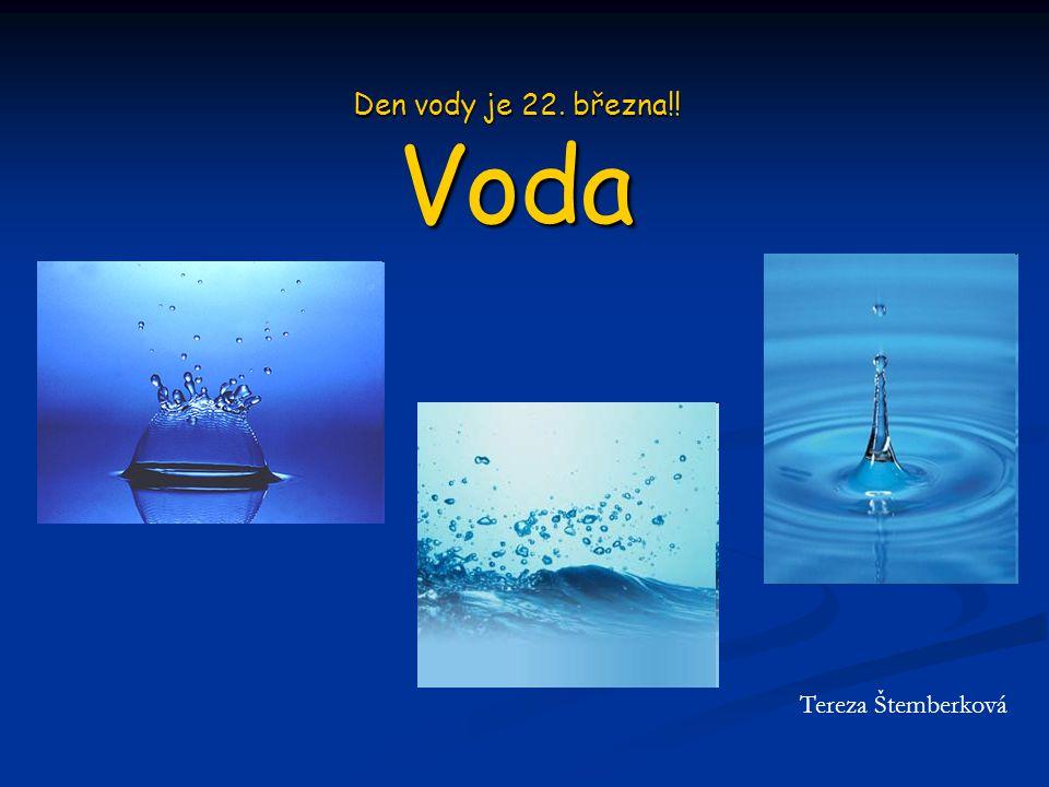 Den vody je 22. března!! Voda Tereza Štemberková