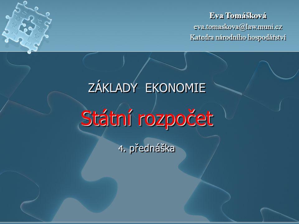 Bilance vládního sektoru v zemích EU v % HDP 200020012002200320042005 EU0,8-1,3-2,3-3,0-2,6-2,3 stará EU1,0-1,2-2,2-2,9-2,6-2,3 ČR-3,7-5,9-6,8-6,6-2,9-2,6 Maďarsko-3,0-3,5-8,4-6,4-5,4-6,1 Polsko-0,7-3,7-3,2-4,7-3,9-2,5 Slovinsko-3,5-3,9-2,7-2,8-2,3-1,8 Slovensko-12,3-6,6-7,7-3,7-3,0-2,9 Německo1,3-2,9-3,7-4,0-3,7-3,3 Francie-1,4-1,6-3,2-4,2-3,7-2,9 Velká Británie3,80,7-1,6-3,3 -3,6 Zdroj: Eurostat - použita metodika MMF