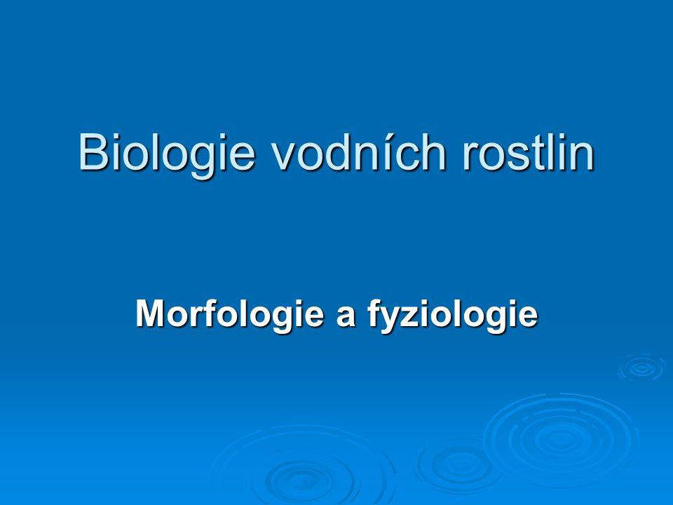 Biologie vodních rostlin Morfologie a fyziologie