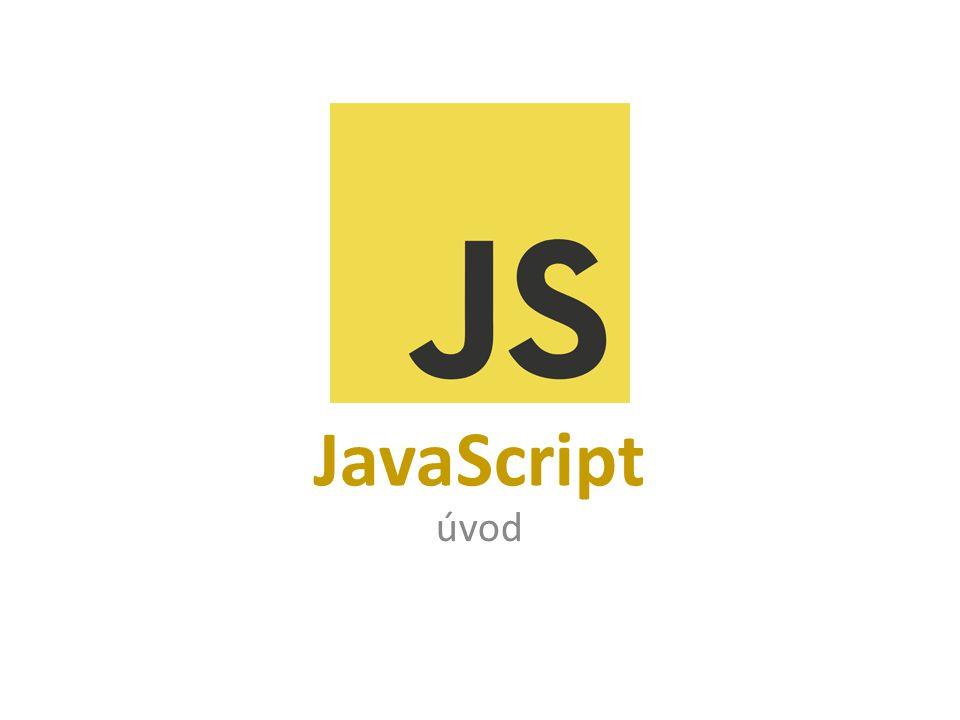 JavaScript úvod