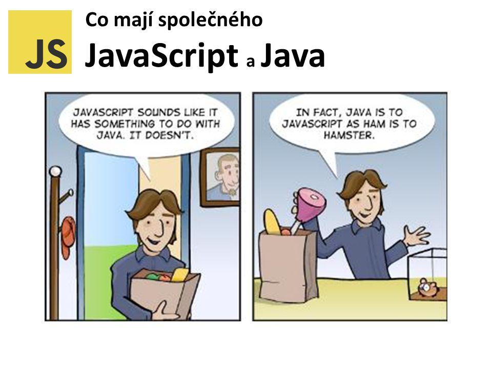 Co mají společného JavaScript a Java