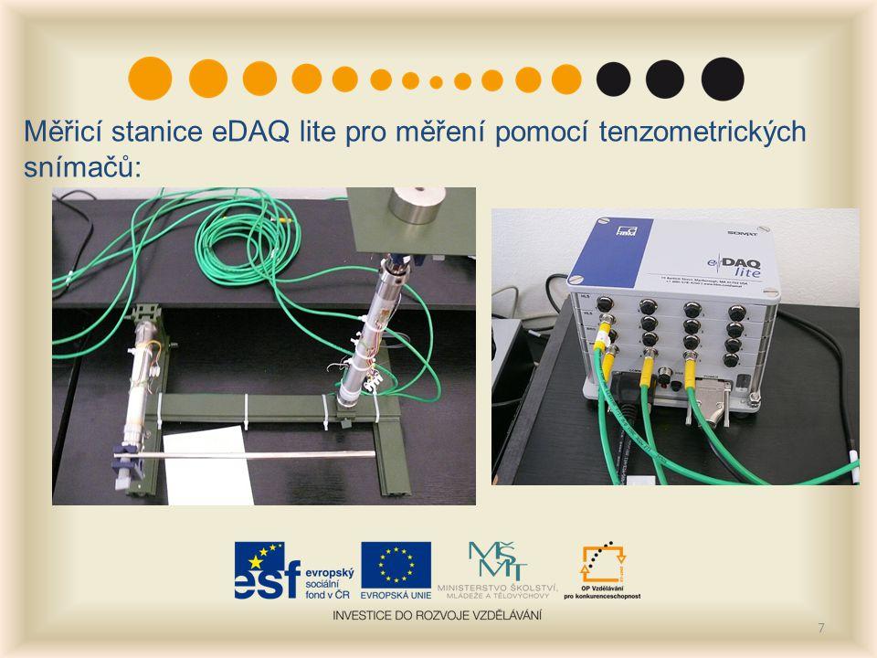 7 Měřicí stanice eDAQ lite pro měření pomocí tenzometrických snímačů: