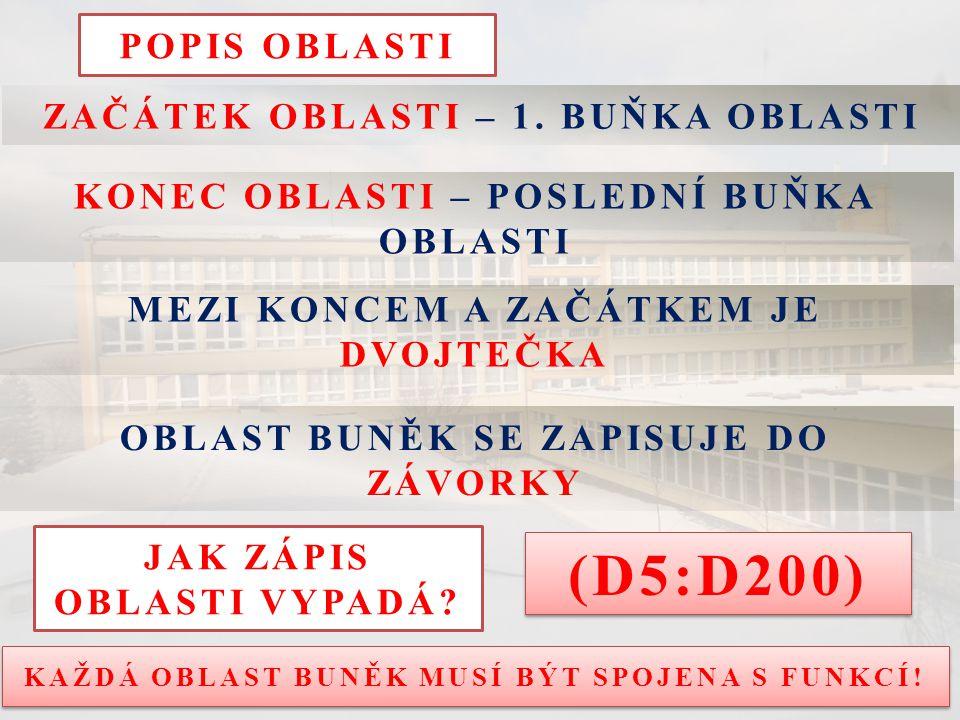 POPIS OBLASTI ZAČÁTEK OBLASTI – 1.