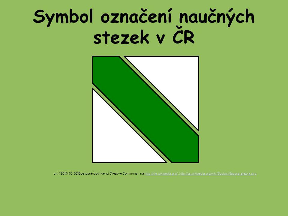 Symbol označení naučných stezek v ČR cit.