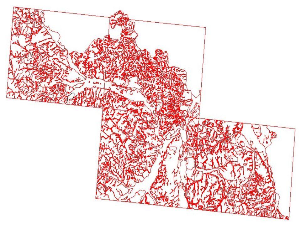 Vybudování topologie - export formátu *.dgn do formátu *.dwg - začištění kresby a vybudování topologie v prostředí ArcInfa Přiřazení atributů geoprvkům - export formátu ESRI coverage do formátu *.shp - přiřazení identifikátorů IG rajónů polygonům v prostředí ArcView 3.1 Naskenování a digitalizace