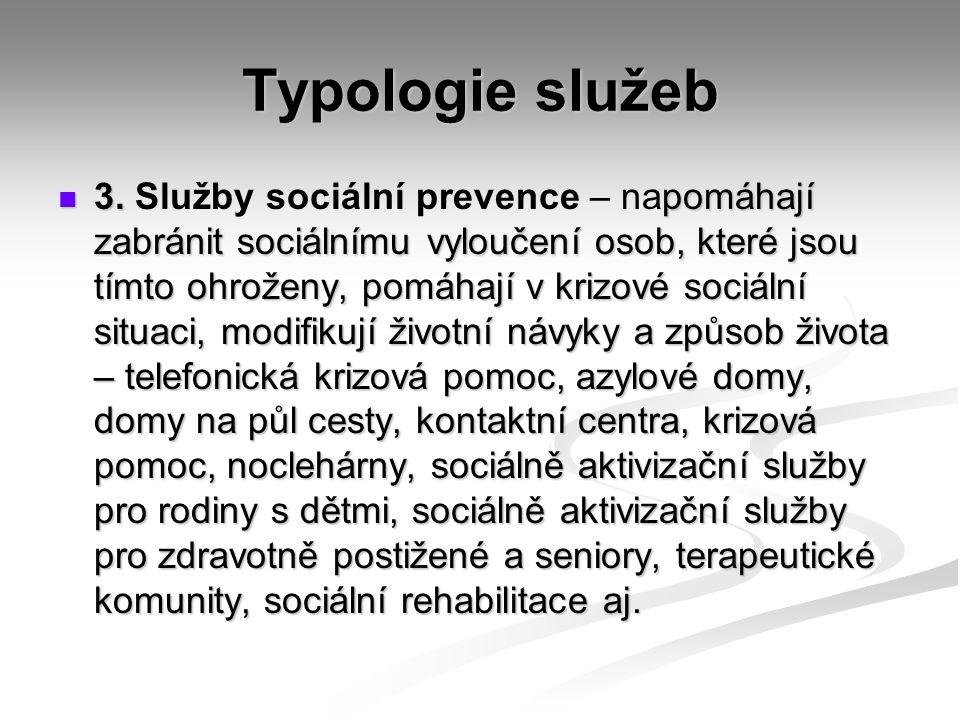 Typologie služeb 3.