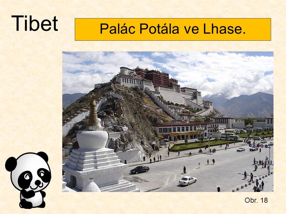 Obr. 18 Tibet Palác Potála ve Lhase.
