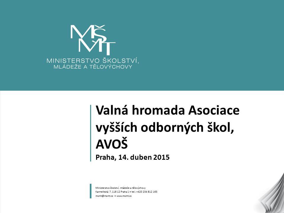 1 Valná hromada Asociace vyšších odborných škol, AVOŠ Praha, 14.