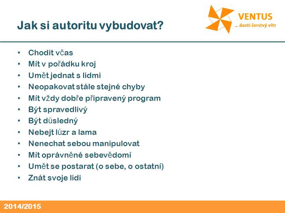 2014/2015 Jak si autoritu vybudovat.