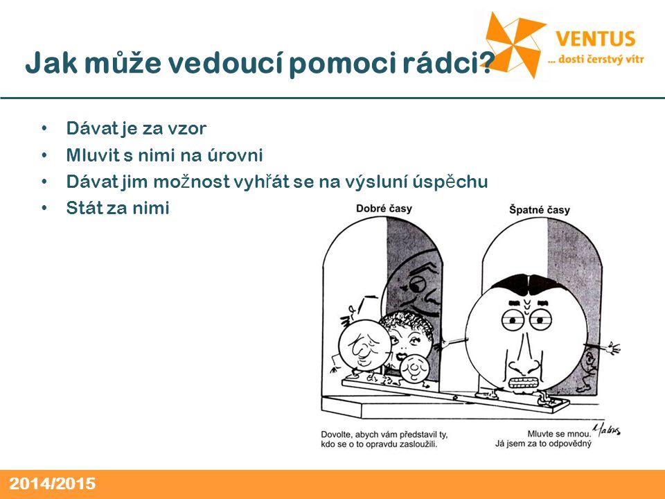 2014/2015 Jak m ůž e vedoucí pomoci rádci.