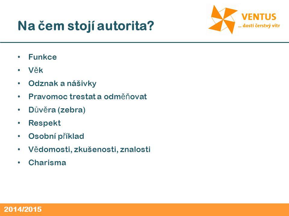 2014/2015 Na č em stojí autorita.
