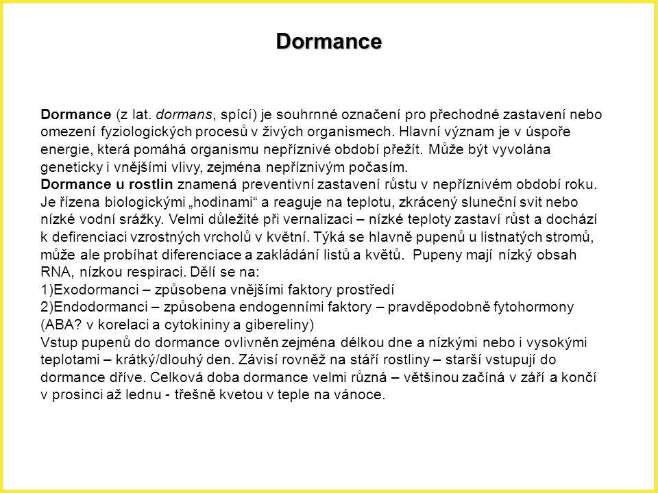 Dormance Dormance (z lat.