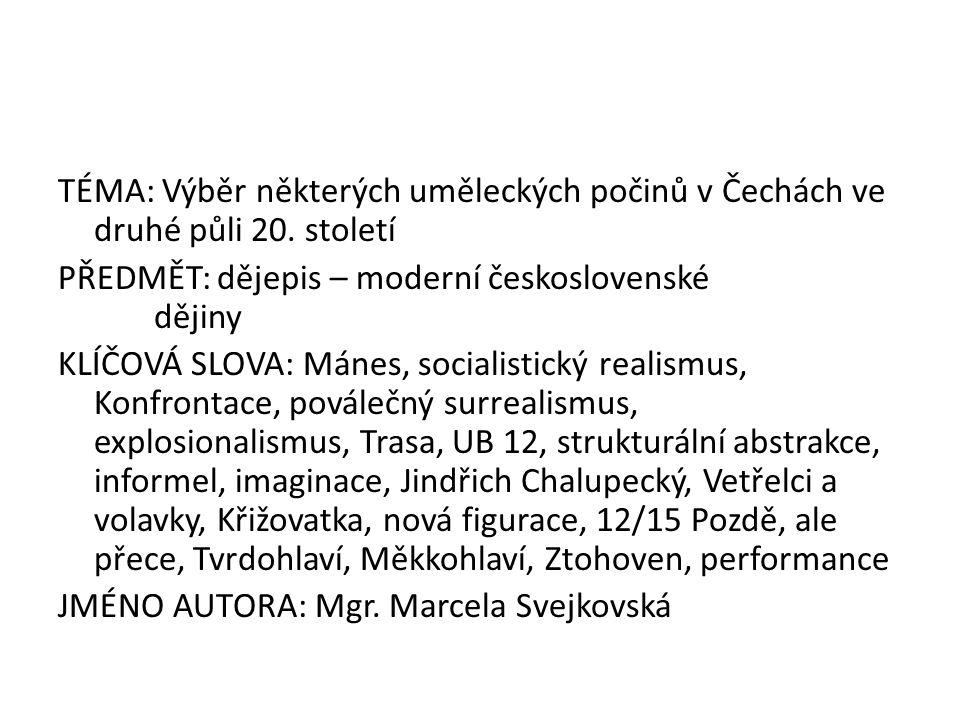 Český sen – 31.5.