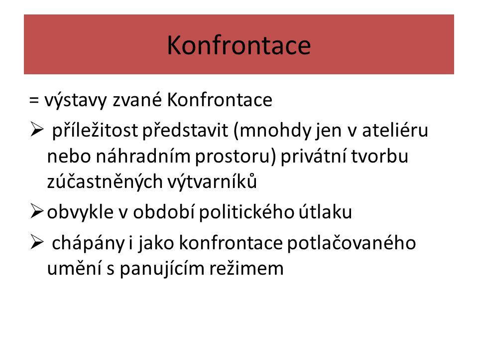 Skupina Křižovatka založena na podzim 1963 v Praze Hledali konfrontací odlišných výtvarných projevů.