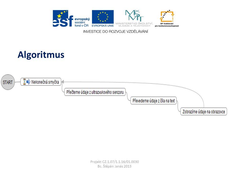 Projekt CZ.1.07/1.1.16/01.0030 Bc. Štěpán Janás 2013 Algoritmus