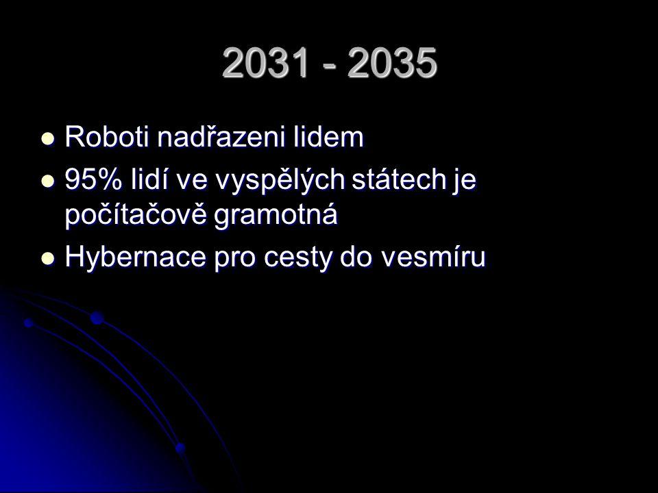 2036 - 2040 Vesmírná sluneční energetická stanice Vesmírná sluneční energetická stanice Virtuální displeje Virtuální displeje Vesmírný výtah Vesmírný výtah
