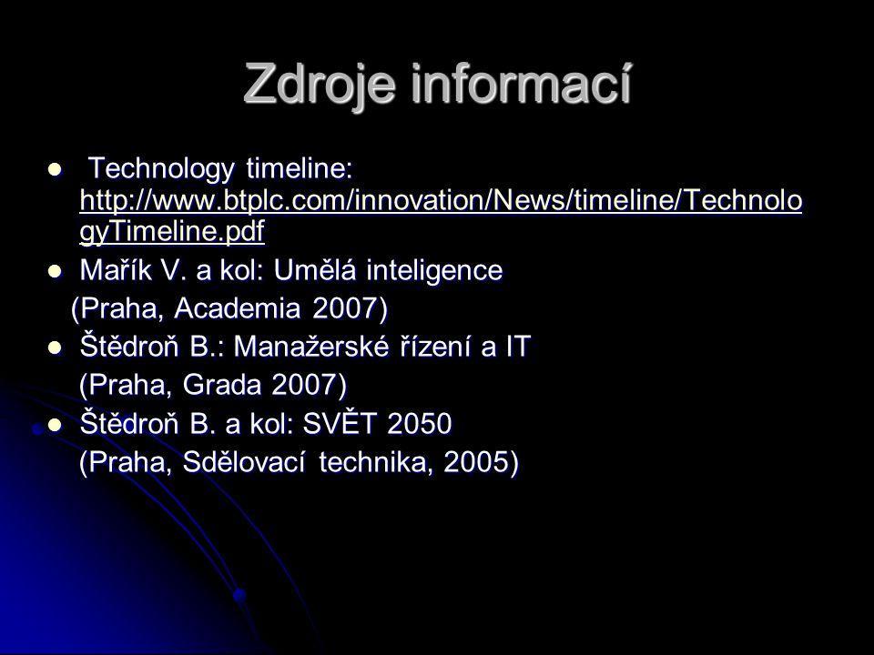 Zdroje informací Technology timeline: http://www.btplc.com/innovation/News/timeline/Technolo gyTimeline.pdf Technology timeline: http://www.btplc.com/innovation/News/timeline/Technolo gyTimeline.pdf http://www.btplc.com/innovation/News/timeline/Technolo gyTimeline.pdf http://www.btplc.com/innovation/News/timeline/Technolo gyTimeline.pdf Mařík V.