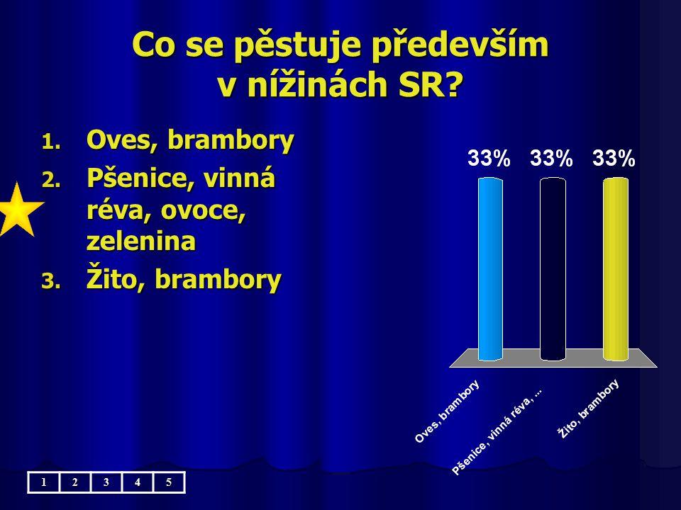 Co se pěstuje především v nížinách SR.1. Oves, brambory 2.