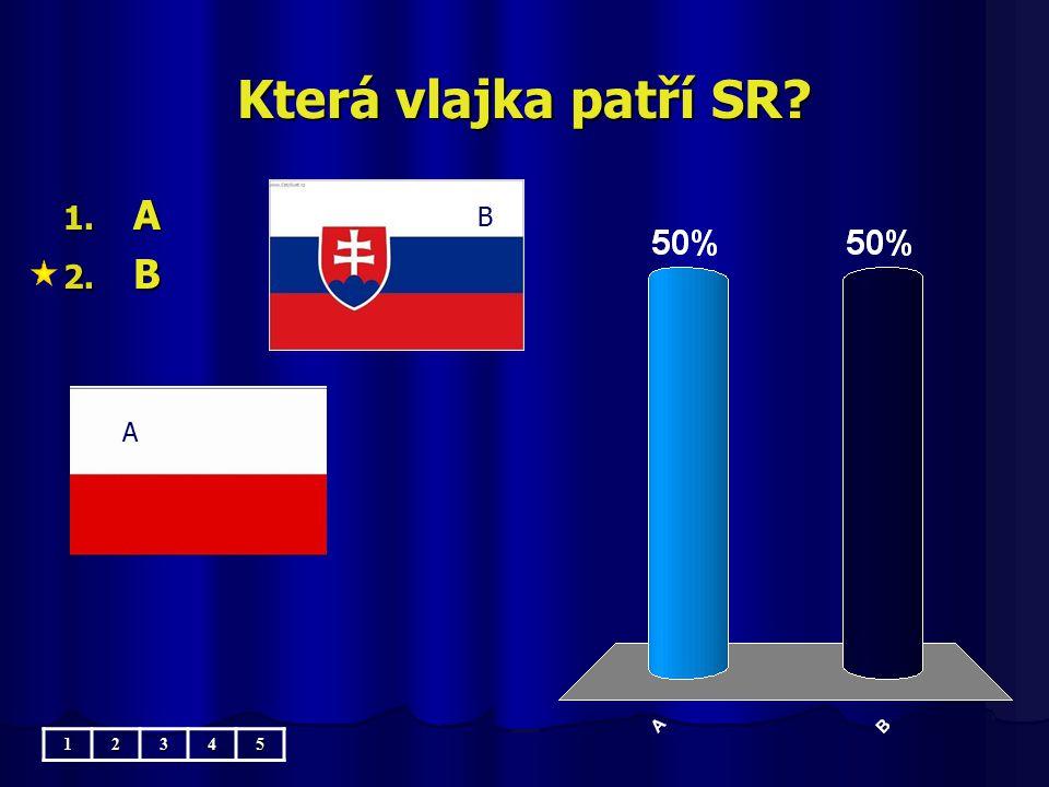 Která vlajka patří SR? A B 1. A 2. B 12345