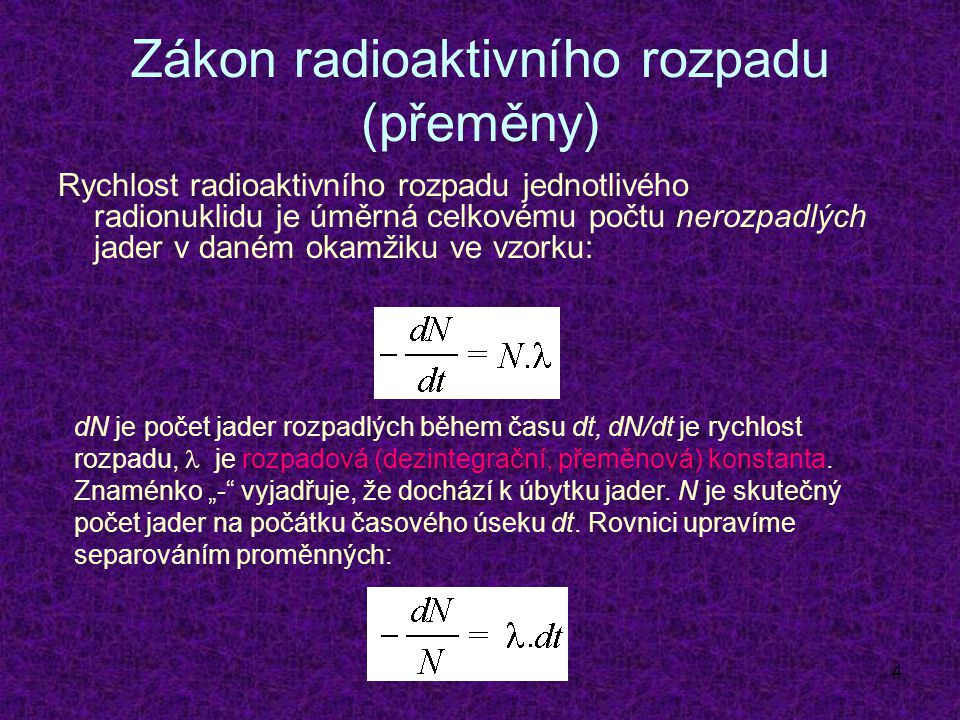 15 Útlum záření Svazek ionizujícího záření prochází látkou: absorpce + rozptyl = útlum Malý pokles intenzity záření -dI, v tenké vrstvě látky je úměrný její tloušťce dx, intenzitě záření dopadajícího na absorbující vrstvu I a specifické konstantě  : -dI = I.dx.