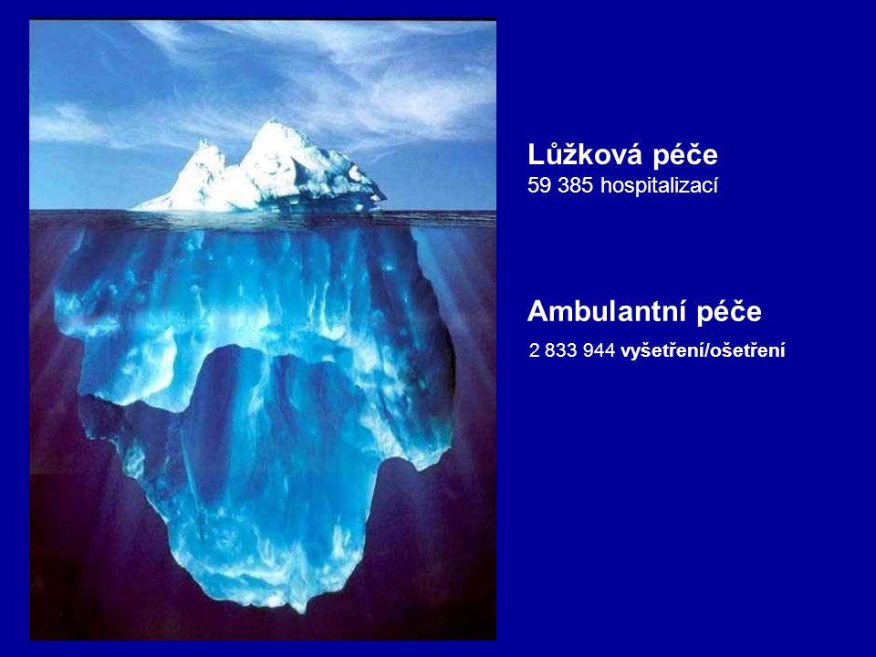 Ambulantní péče 2 833 944 vyšetření/ošetření Lůžková péče 59 385 hospitalizací