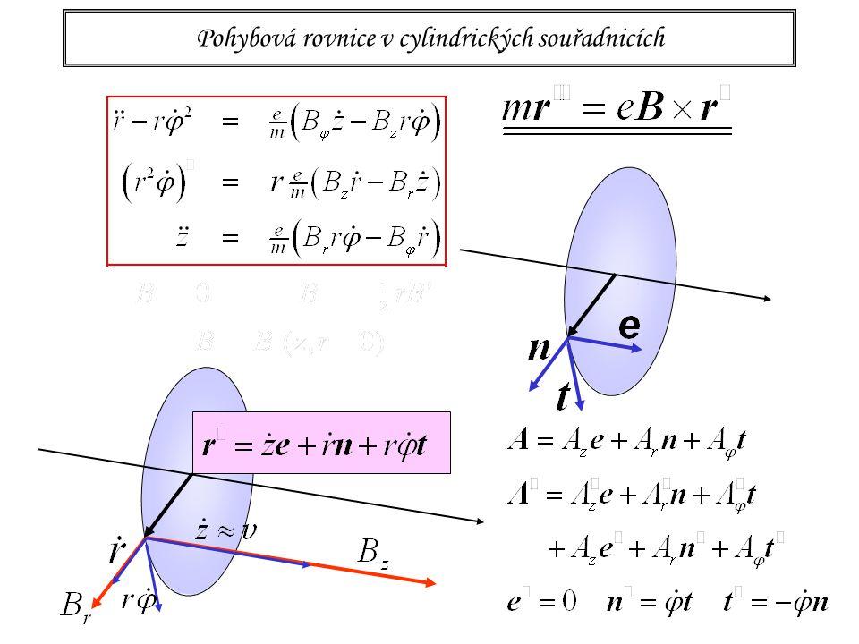 16 Pohybová rovnice v cylindrických souřadnicích