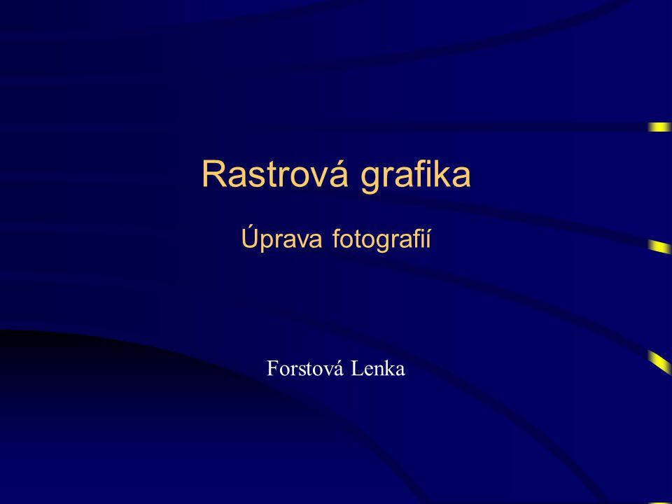 Rastrová grafika Úprava fotografií Forstová Lenka
