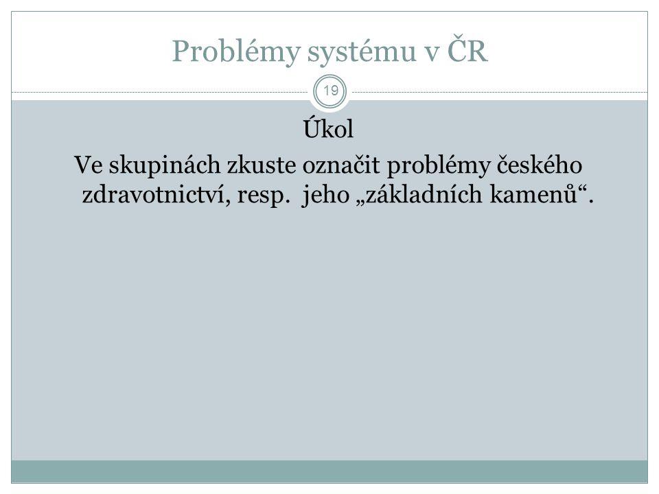 Základní rovnováha systému 20 Náklady Kvalita Dostupnost