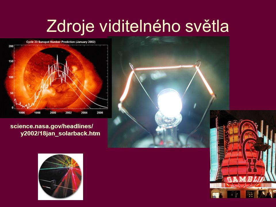 19 Zdroje viditelného světla science.nasa.gov/headlines/ y2002/18jan_solarback.htm