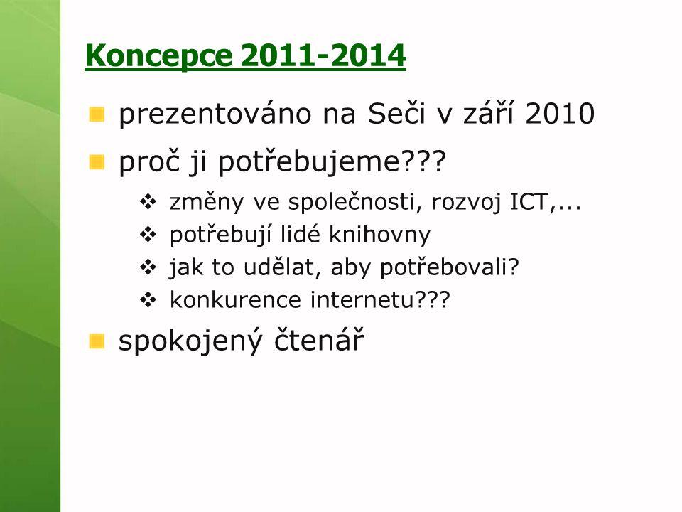 Koncepce 2011-2014 prezentováno na Seči v září 2010 proč ji potřebujeme .