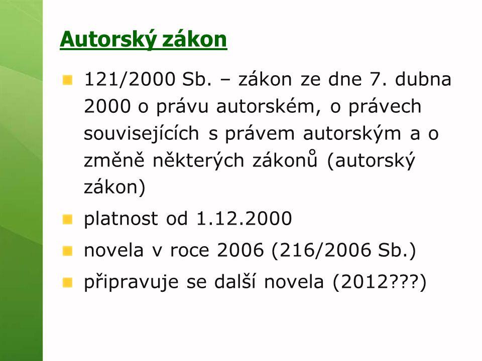 121/2000 Sb. – zákon ze dne 7.