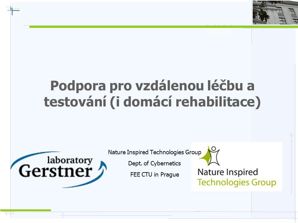 Podpora pro vzdálenou léčbu a testování (i domácí rehabilitace) Nature Inspired Technologies Group Dept. of Cybernetics FEE CTU in Prague