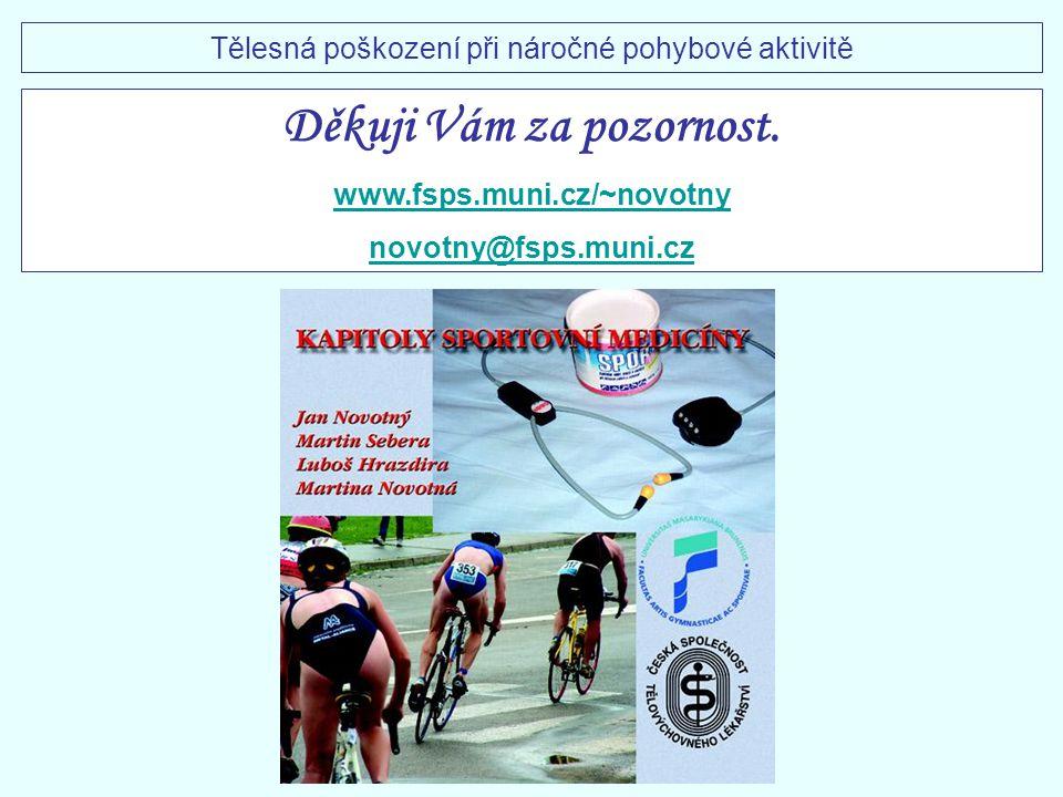 Děkuji Vám za pozornost. www.fsps.muni.cz/~novotny novotny@fsps.muni.cz Tělesná poškození při náročné pohybové aktivitě
