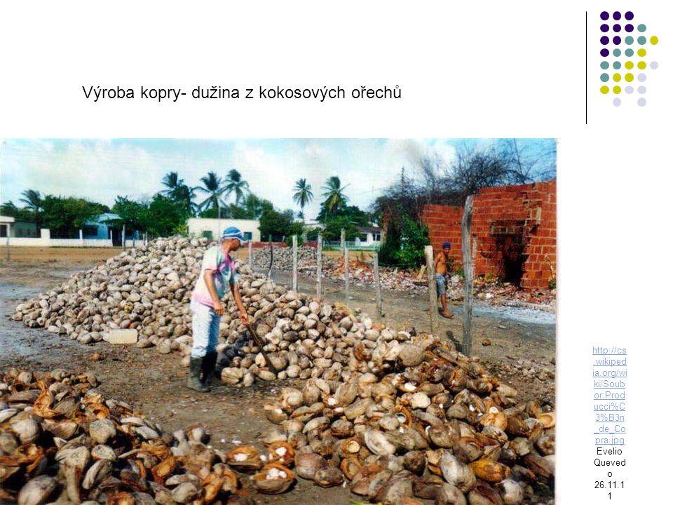 http://cs.wikiped ia.org/wi ki/Soub or:Prod ucci%C 3%B3n _de_Co pra.jpg Evelio Queved o 26.11.1 1 Výroba kopry- dužina z kokosových ořechů