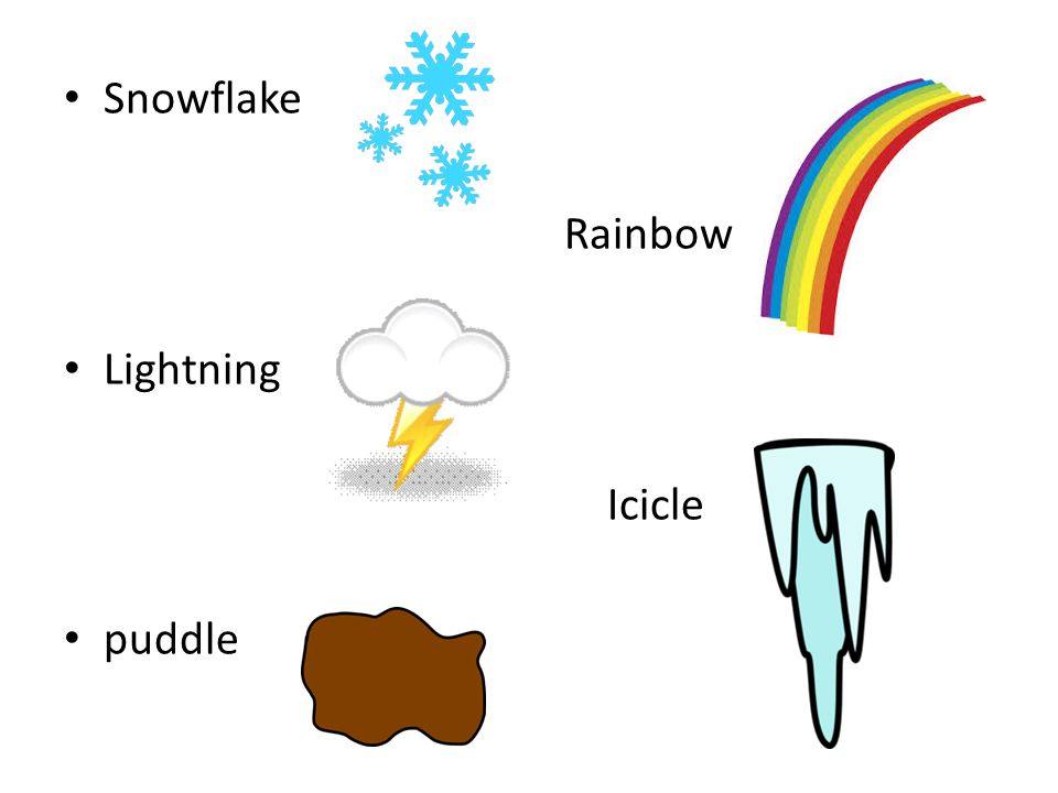 Snowflake Rainbow Lightning Icicle puddle