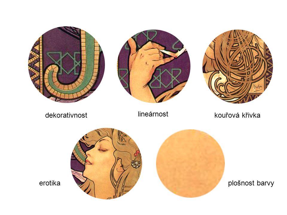 dekorativnost lineárnost kouřová křivka plošnost barvyerotika