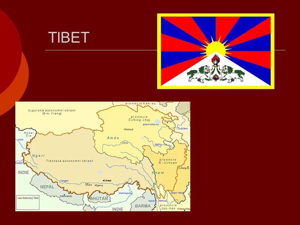  Obyvatelstvo: Tibeťané  Jazyk: tibetský  V minulosti nezávislým královstvím  Od padesátých let 20.