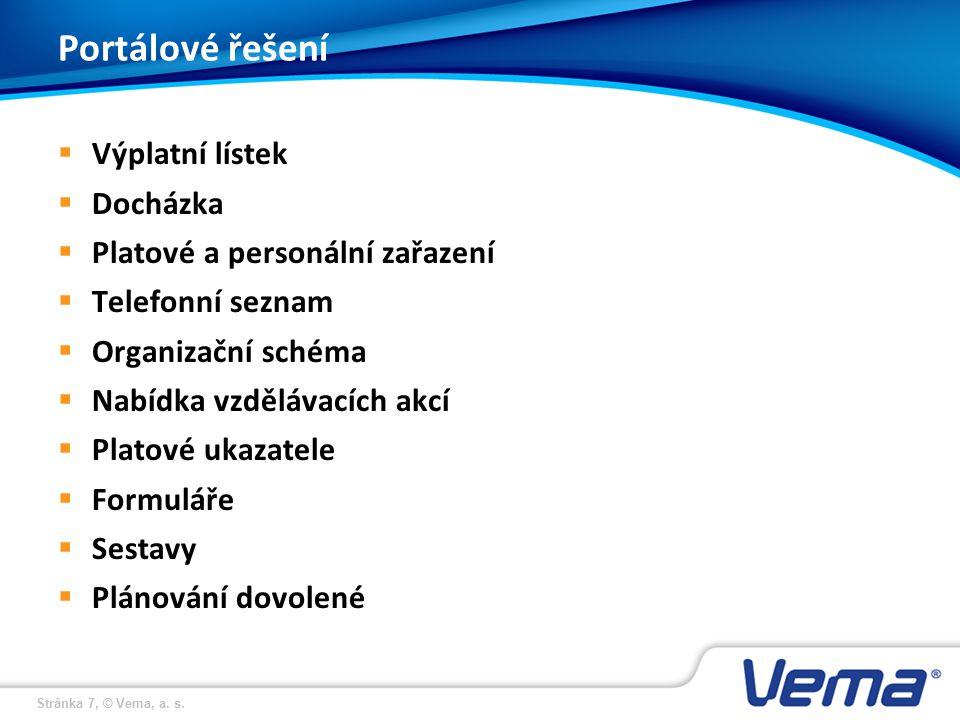 Stránka 18, © Vema, a. s. Charakteristika systemizovaného místa