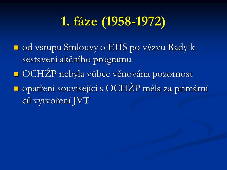 1. fáze (1958-1972) od vstupu Smlouvy o EHS po výzvu Rady k sestavení akčního programu od vstupu Smlouvy o EHS po výzvu Rady k sestavení akčního progr