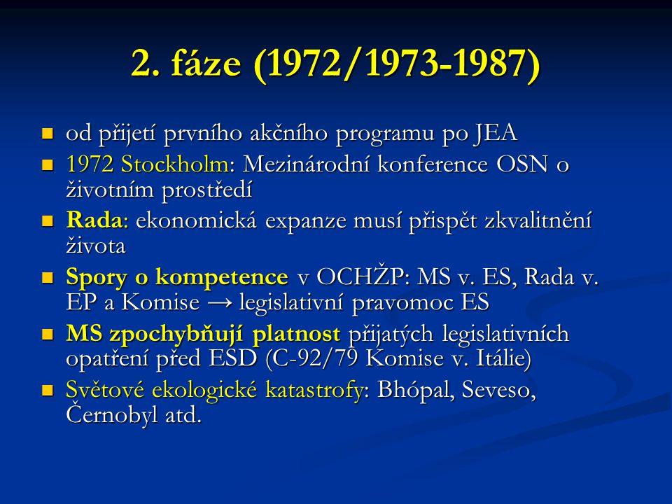 2. fáze (1972/1973-1987) od přijetí prvního akčního programu po JEA od přijetí prvního akčního programu po JEA 1972 Stockholm: Mezinárodní konference