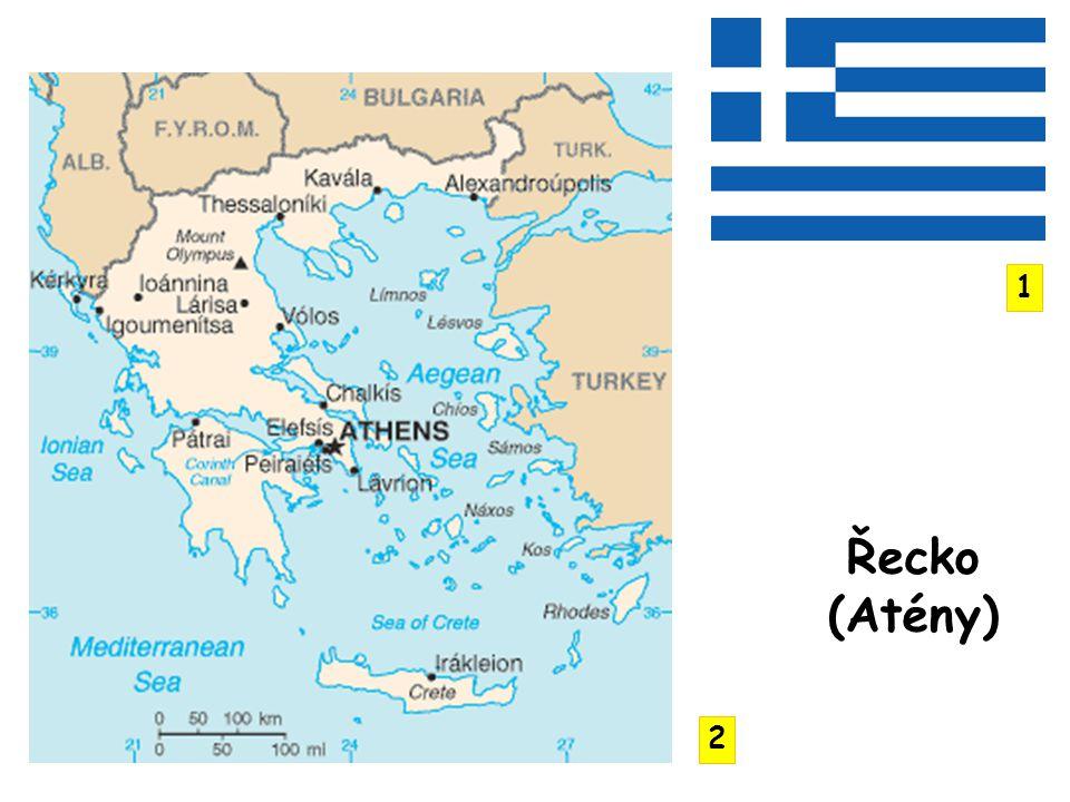 po Norsku nejčlenitější pobřeží poloostrovy Balkánský, Peloponés, Chalkidiky Korintská šíje asi 2000 ostrovů - Jónské, Kyklady, Severní a Jižní Sporady, Kréta, Rhodos, Lesvos, Thassos pohoří Pindos, Rodopy, Epirus, Olymp častá zemětřesení sopečná činnost Théra (Santorini) – jejím výbuchem v 17.