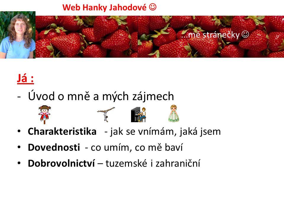 Fotogalerie: Dobrovolnictví Svatba sestřenky Pouť Medjugorje Hody – Kunovice, Web Hanky Jahodové...mé stránečky