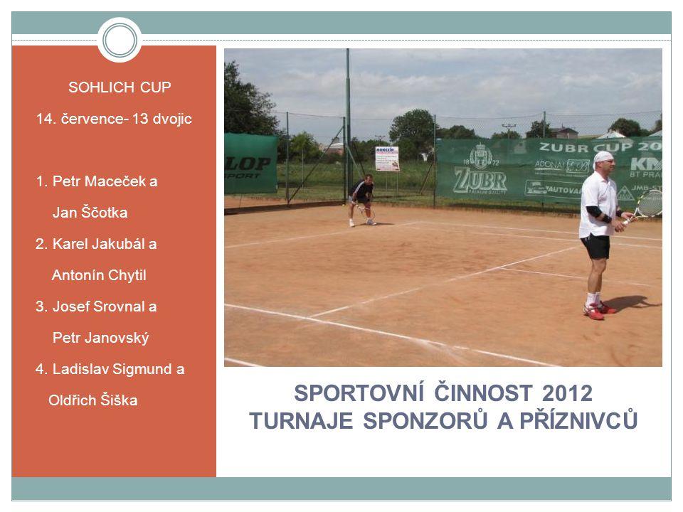 SPORTOVNÍ ČINNOST 2012 TURNAJE SPONZORŮ A PŘÍZNIVCŮ SOHLICH CUP 14.