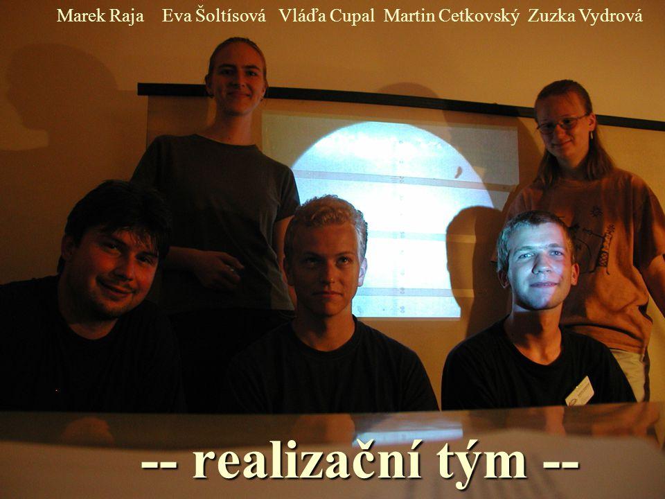 -- realizační tým -- Marek RajaVláďa CupalEva ŠoltísováZuzka VydrováMartin Cetkovský