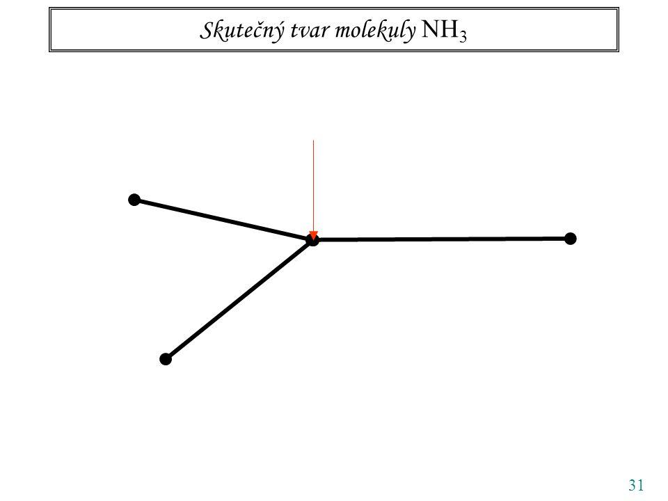 31 Skutečný tvar molekuly NH 3