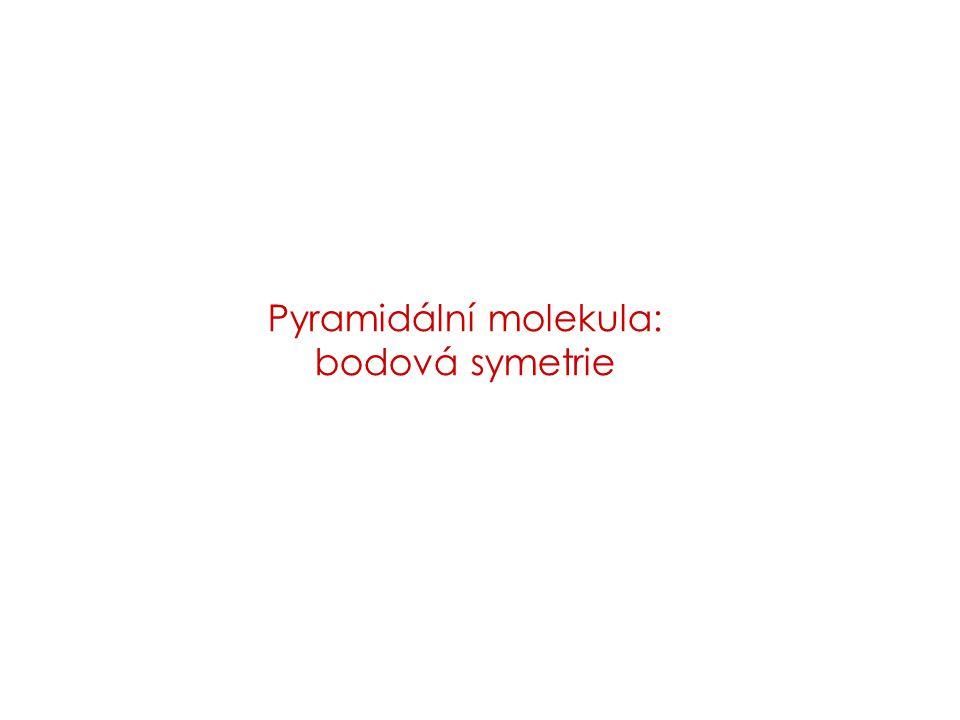 Pyramidální molekula: bodová symetrie