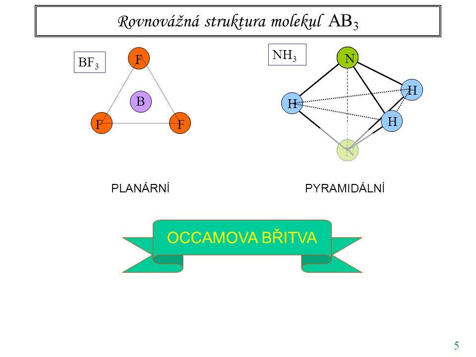 56 Normální kmity pyramidálních molekul typu amoniaku symetrie A 1, osovásymetrie E, 2x degenerovaná kmit 1 bond bending kmit 3 bond stretching kmit 2 nemá C 2v, degenerace kmit 4 obdobné otočení o 120 o otočení o 240 o lze složit z prvních dvou