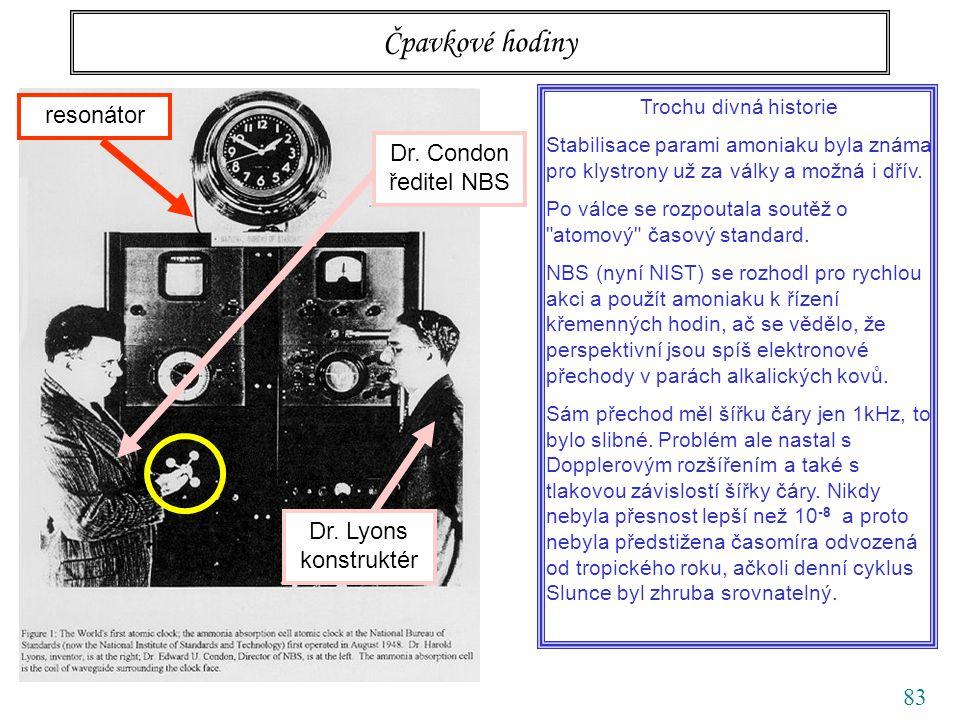 83 Čpavkové hodiny Dr. Lyons konstruktér Dr.